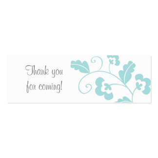 Trendy Floral Bridal Shower Favor Gift Tags Pack Of Skinny Business Cards