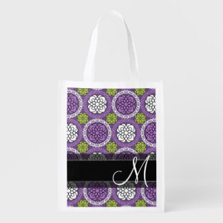 Trendy Floral Pattern - Orchid and Lime Green