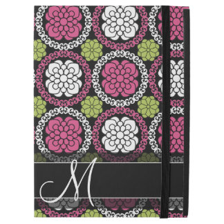 "Trendy Floral Pattern - Pink and Black iPad Pro 12.9"" Case"