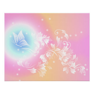 Trendy Floral Pink Poster