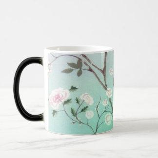 Trendy floralBlack/White 325 ml Morphing Mug