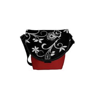 Trendy Flower Pattern Mini Messenger Bag Courier Bags