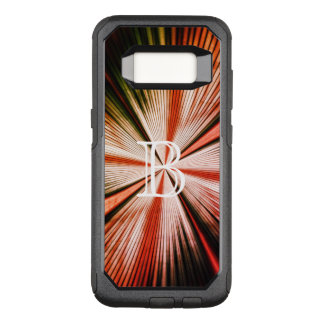 Trendy Fractal Light Rays Monogram OtterBox Commuter Samsung Galaxy S8 Case