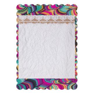 trendy,fractal,polygamel,new media,3d abstract art 13 cm x 18 cm invitation card