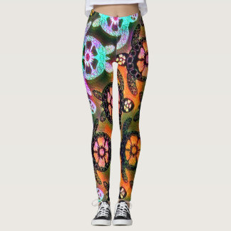 Trendy Galaxy Nebula Hawaiian Sea Turtle Dance Leggings