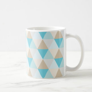 Trendy geometric aqua triangle pattern coffee mug