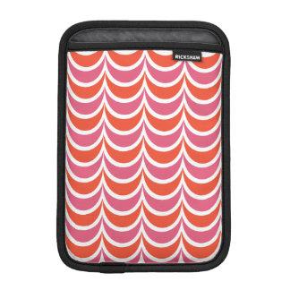 Trendy Geometric Pattern Pink Orange Wavy Stripes iPad Mini Sleeves