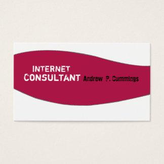 Trendy Geometric Plain Biz Modern Design Business Card