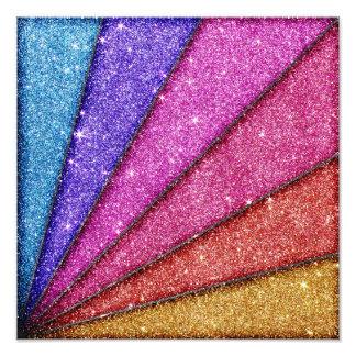 Trendy Geometrical Glitter Stripes Photo Print