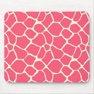 Trendy giraffe pattern pink mouse pads