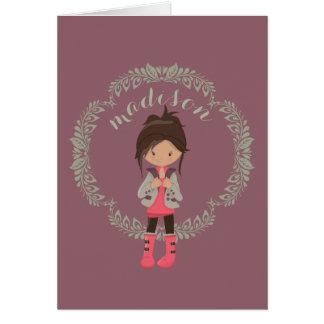Trendy Girly Avatar Card