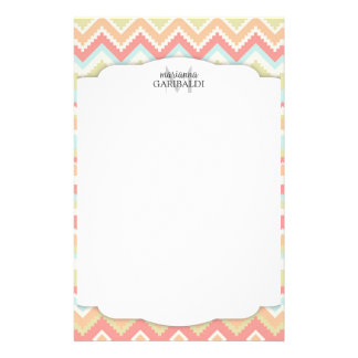 Trendy Girly Aztec Print  Personalized Stationery