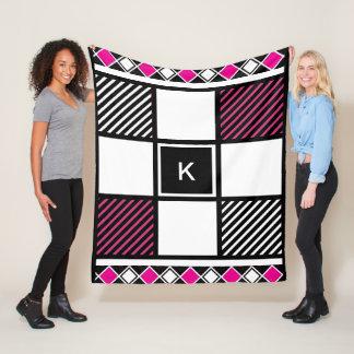 Trendy & Girly Patterns Fleece Blanket