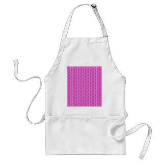 Trendy Girly Pink Zigzag Stripes Pattern Aprons