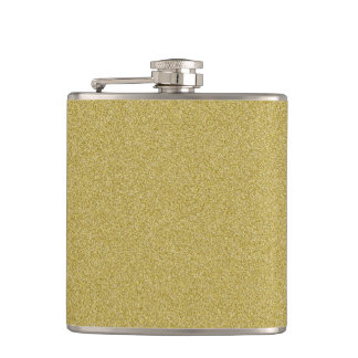 Trendy Glitter Gold Hip Flask