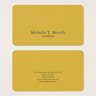 Trendy Gold Color Background Plain Creative Modern Business Card