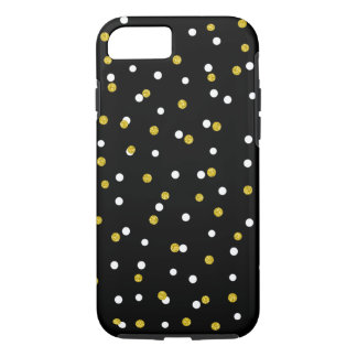 Trendy Gold Confetti, color changeable background iPhone 8/7 Case