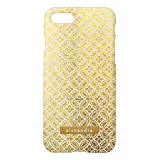 Trendy Gold Flowers Wreath Pattern iPhone 8/7 Case