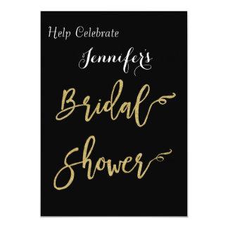 Trendy Gold Foil Bridal Shower 13 Cm X 18 Cm Invitation Card