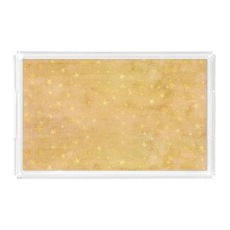 Trendy Gold Foil Stars Watercolor