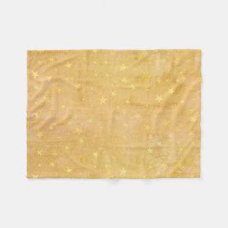 Trendy Gold Foil Stars Watercolor Fleece Blanket
