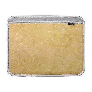 Trendy Gold Foil Stars Watercolor MacBook Sleeve