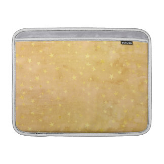 Trendy Gold Foil Stars Watercolor Sleeve For MacBook Air