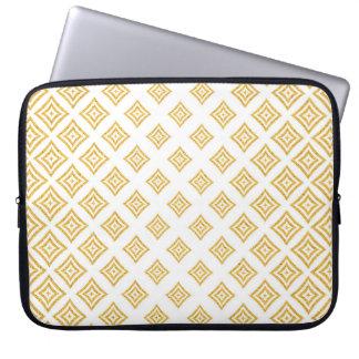 Trendy Gold Glitter Geometric Shapes Laptop Sleeve