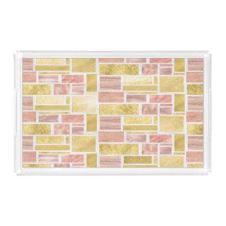 Trendy Gold Pink Mauve Foil Blocks