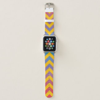 Trendy Graduated Diagonal Stripes Apple Watch Band