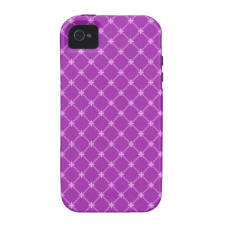 Trendy Grape Purple Criss-Cross Pattern Vibe iPhone 4 Covers