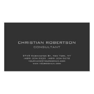 Trendy Gray Background Professional Business Card