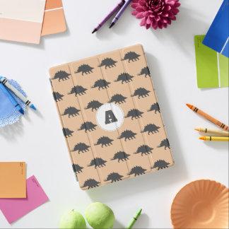 Trendy Gray Stegosaurus Dinosaurs Personalized iPad Cover