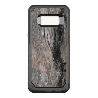 Trendy Gray Tones And Black Marble Stone OtterBox Commuter Samsung Galaxy S8 Case