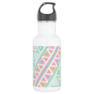 Trendy Green Orange  Andes Tribal Zigzag Pattern 532 Ml Water Bottle