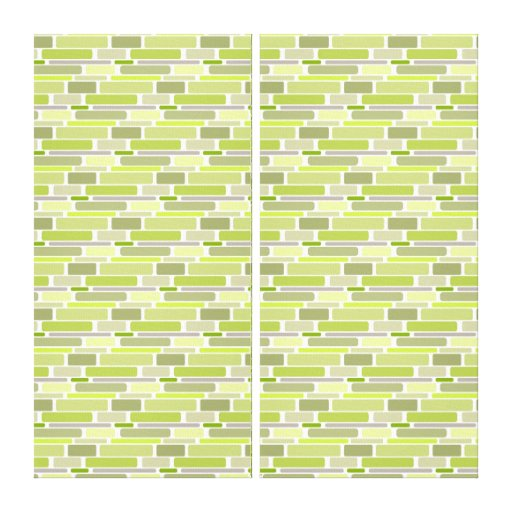 Trendy Green Retro Blocks Gallery Wrapped Canvas