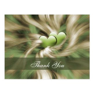trendy green  ThankYou Cards Postcard