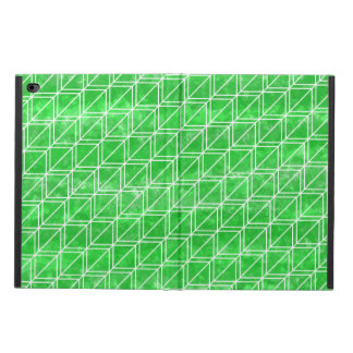 Trendy Green Watercolor Geometric Pattern