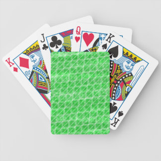 Trendy Green Watercolor Geometric Pattern Bicycle Playing Cards