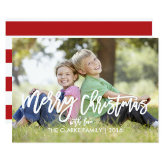 Trendy Hand Lettered Script   Holiday Photo Card 13 Cm X 18 Cm Invitation Card