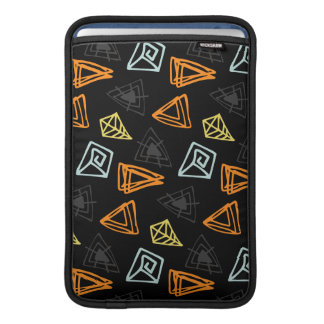 Trendy hand made Pattern Abstract Triangles MacBook Sleeve