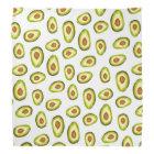 Trendy hand painted avocados watercolor pattern bandana