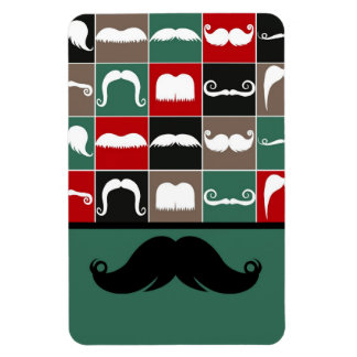 Trendy Handlebar Mustache for Father's Day Vinyl Magnets