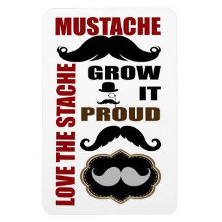 Trendy Handlebar Mustache Moustache Stache Vinyl Magnets
