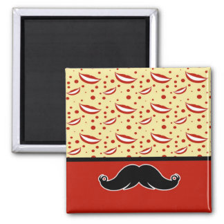 Trendy Handlebar Mustache Moustache Stache Magnet