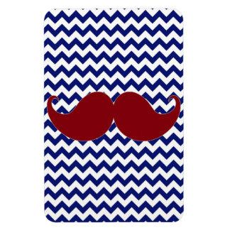 Trendy Handlebar Mustache Moustache Stache Rectangular Magnet