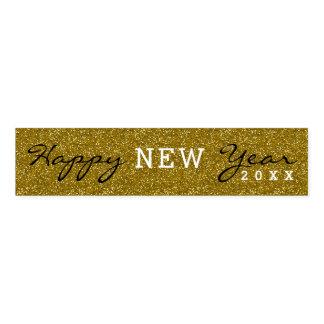 Trendy Happy New Year Gold Glitter Napkin Band