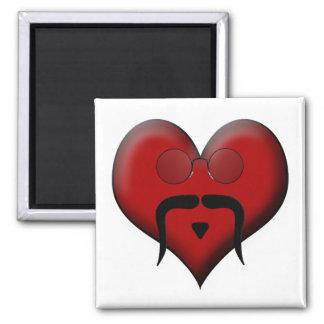 Trendy Heart Mustache Moustache Stache Refrigerator Magnets