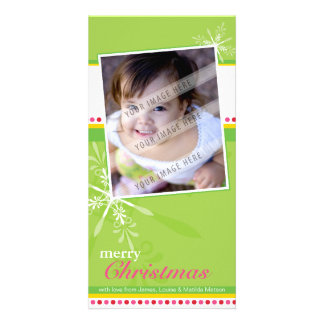 TRENDY HOLIDAY PHOTOCARD :: brightlyflaked 2P Photo Greeting Card