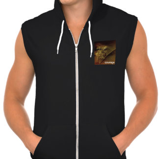 trendy hooded sleeveless jacket